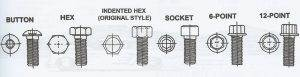 Car Bolt Styles