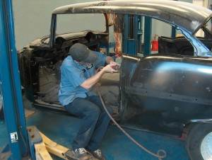 Body Work on 55 Chevy