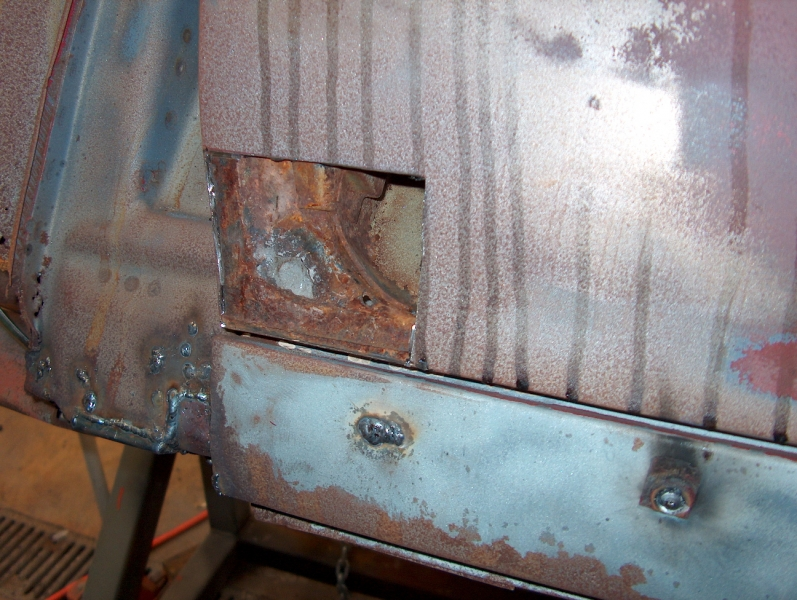 Removing Rusty Panel on Chevelle